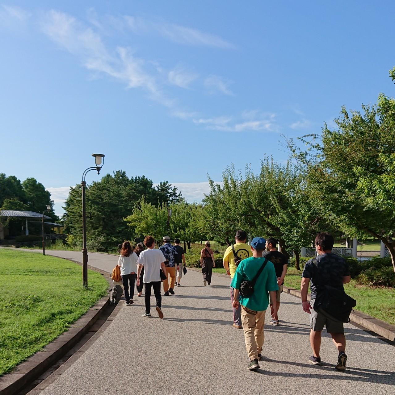 ビックスワンのそば!新潟県スポーツ公園でお散歩朝活を行いました!